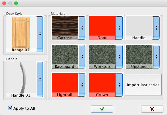 New materials window