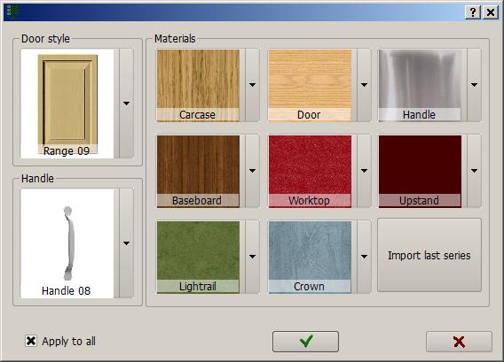 New materials window