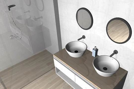 Photorealistic images of the bathrooms