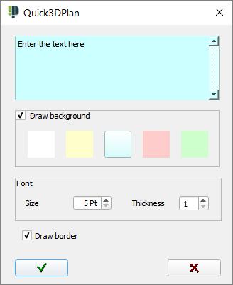 Text insertion window