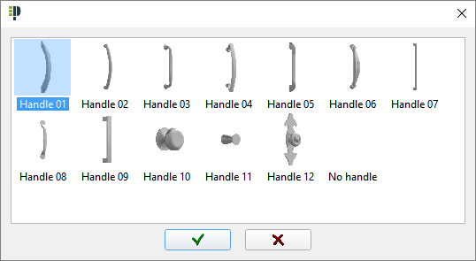 Preview of handle models