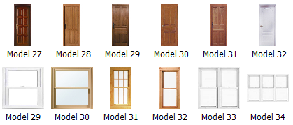 New architectural door and window models