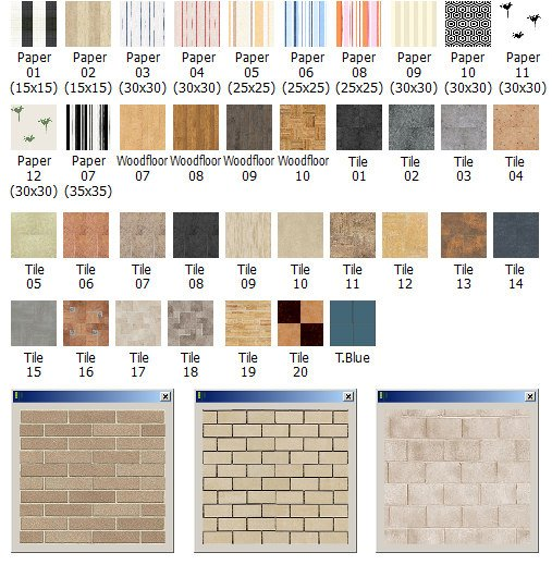New floor and wall materials