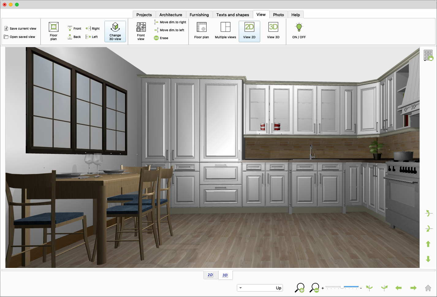 Quick3DPlan, 3D kitchen view